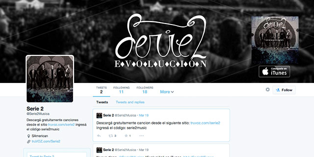 Sigue @Serie2musica en Twitter